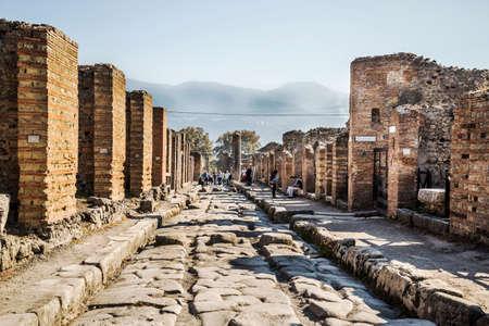 2 november: POMPEII - NOVEMBER 2: Roman archeologic ruins of the lost city of  Pompeii on November 2, 2014 in Pompeii,  Italy