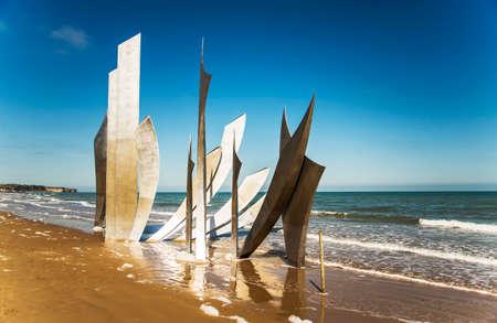 omaha: the memorial on Omaha Beach in Normandy, France