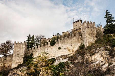 san marino: fortress and wall of San Marino Republic