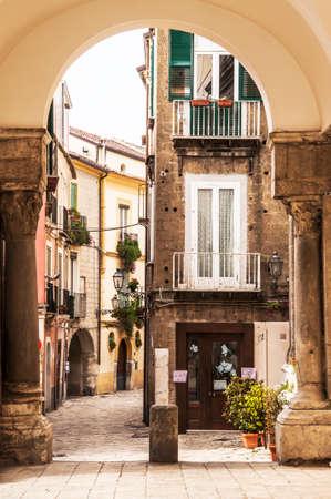 a picturesque italian street in St Agata de Goti, Italy Editorial