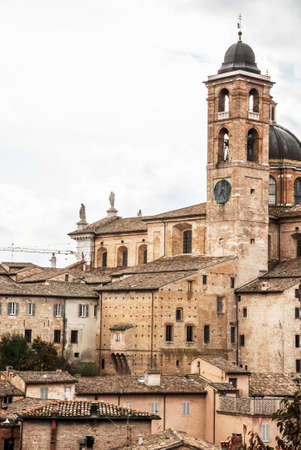 urbino: panoramic view of the church in the city of Urbino, Italy