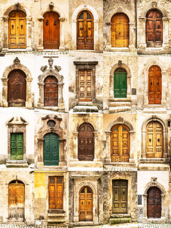 group of italian old doors Stock Photo & Old Doors Stock Photos. Royalty Free Old Doors Images