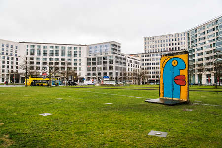 eager: BERLIN APRIL 1: view of the modern Leipziger Platz in the Mitte district on April 1 2015 in Berlin Germany