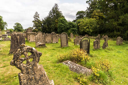 churchyard: old historical cemetery in the churchyard in Corsham, UK