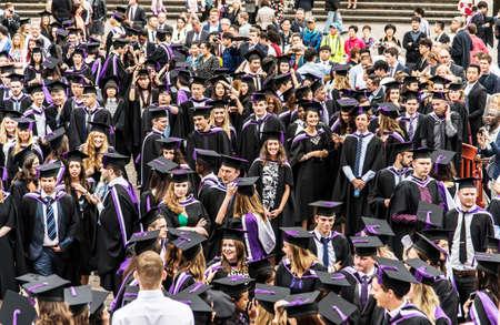 portsmouth: PORTSMOUTH - JULY 20: graduation ceremony at Portsmouth University on July 20, 2015 in Portsmouth, UK Stock Photo