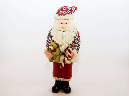 oldman: Santa Claus for Christmas with white background