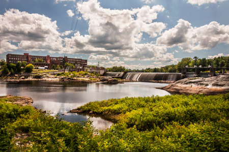 View of Fort Ambross Mill in the town of Brunswick in Maine, USA
