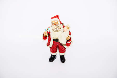 one year old: Santa Claus for Christmas with white background