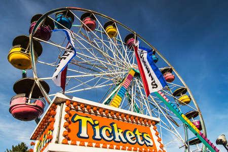 big wheel: Big wheel at Freyburg Fair in Maine, USA Editorial