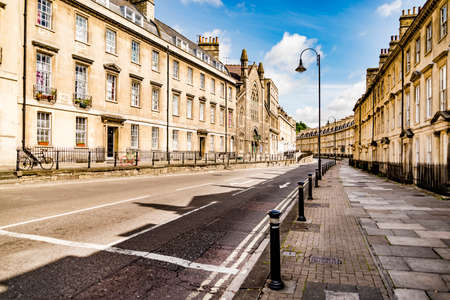 Buildings in the historic centre of Bath in England, UK