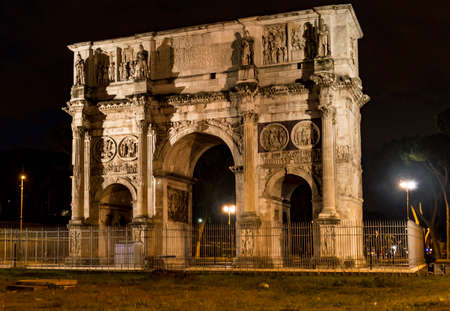 constantine: Roman Arch of Constantine in the city of Rome, Italy