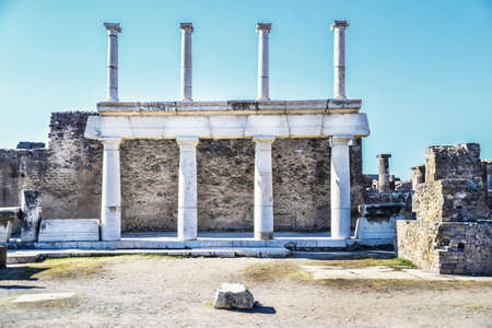 lost city: Roman archeologic ruins of the lost city of  Pompeii,  Italy