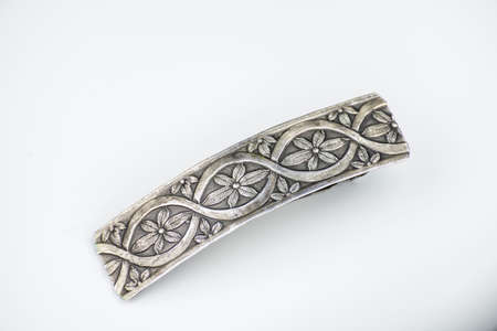 hair clip: nice metal Hair clip on white background