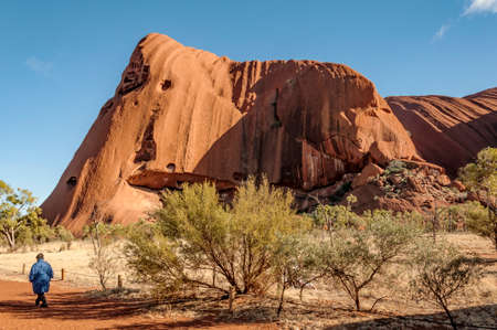 ayers: view of Ayers Rock in Northern Territory, Australia