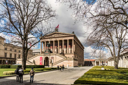 bode: BERLIN - APRIL 4: Museum Island which includes Alte Nationalgalerie, Old National Gallery, Altes museum, Bode, Pergamon, Neues museum.