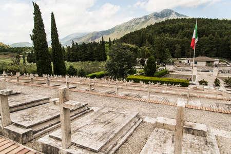 monte: Polish WWII Cemetary in Monte Cassino, Italy Editorial