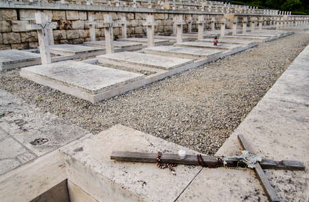 wwii: Polish WWII Cemetary in Monte Cassino, Italy Editorial