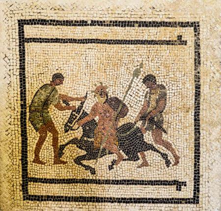 Roman mosaic from Pompeii houses, Naples, Italy