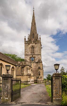 parish: Corsham parish church in the market town of Corsham, Cotswolds, UK Stock Photo