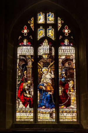 britan: Stained Glass Window of Corsham Church, England