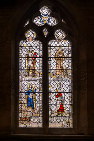 Stained Glass Window of Corsham Church, England