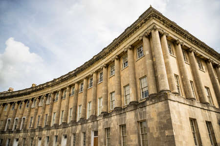 BATH - UNITED KINGDOM, JULY 18: The Circus, famous circular Royal Crescent building on July 18, 2015 in Bath, Somerset, England.