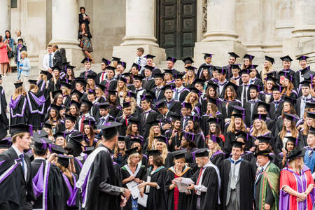PORTSMOUTH - JULY 20: graduation ceremony at Portsmouth University on July 20, 2015 in Portsmouth, UK Redakční