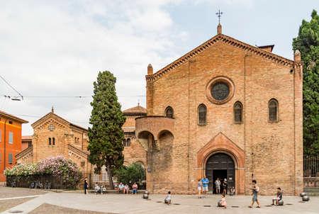BOLOGNE - 25 JUIN: Églises de Santo Stefano, également appelées les sept soeurs le 25 juin 2017 à Bologne, Italie Banque d'images - 85670917