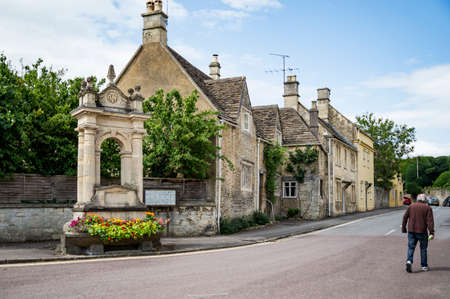 Street in the market town of Corsham England, UK, which was also used for the filming location of the BBC drama Poldark. Stock Photo