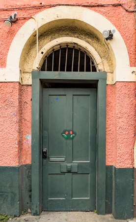 Green Door in the French Quarter of New Orleans LA USA Stock Photo