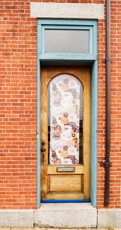 Front Door Of A New England House In Portsmouth, New Hampshire Stock Photo    91494900