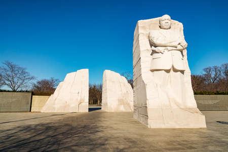 Martin Luther King Junior Memorial in Washington DC, USA Editorial