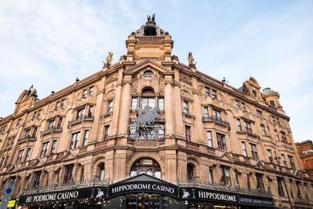 LONDON, UK - DECEMBER 29: Famous London Hippodrome Casino. London Hippodrome was built in 1900 by Frank Matcham as a hippodrome for circus and variety performances. On December 29, 2017 in London UK Editorial