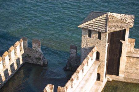 The old fortification located on the Gardas lake in Lazise, Italy