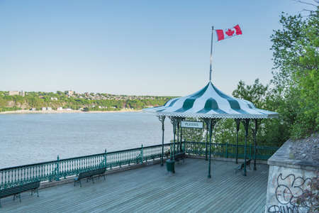 The Governors promenade with the beautiful view in Quebec City, Canada Stock Photo