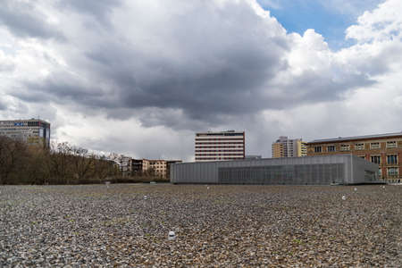 Berlin, Germany - April 2, 2015: view of the Topography of Terror, an outdoor and indoor history museum. Between 1933 and 1945, the central institutions of Nazi persecution were located here, on April 2, 2015 ion Berlin, Germany Sajtókép