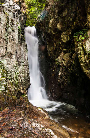 Waterfall in the Castle in the Clouds New Hampshire, USA Stock Photo