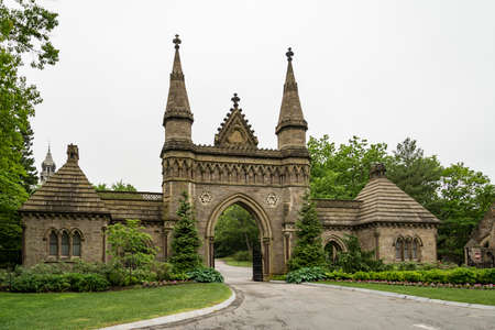 the famous Forest Hills Cemetery in Boston MA, United States
