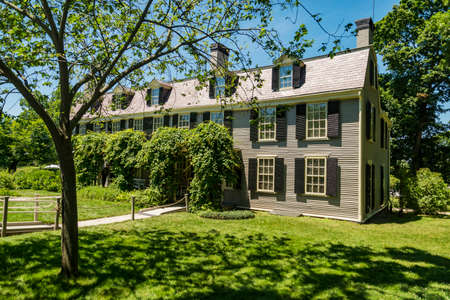 John Adams house during his presidential manadte, Adams National Historical Park in Quincy, MA. Stock Photo