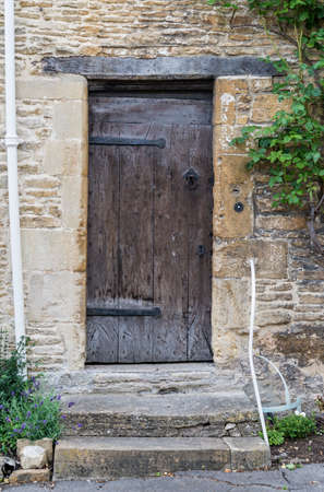 Old British door in an old village in south of England Stock Photo