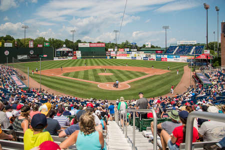 PORTLAND, ME - AUGUST 5: Portland Sea Dogs vs Richmond at Hadlock Field Portland, Maine on August 5, 2018. Editorial