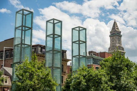 Towers of the Holocaust Memorial in Boston, MA, USA