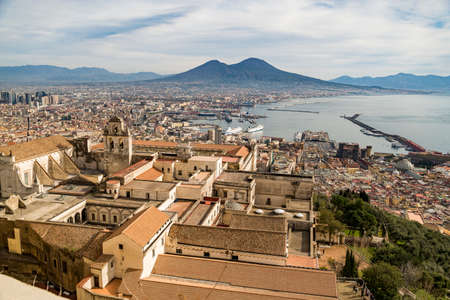 View of Naples from Castle Sant Elmo, Campania, Italy