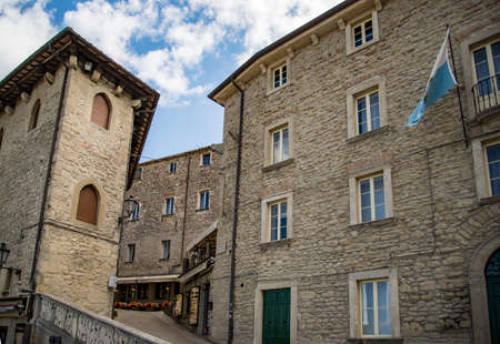 City of San Marino. old building in the historic district in the Republic of San Marino