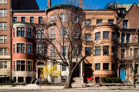 Building facade on Commonwealth Ave, Boston, USA