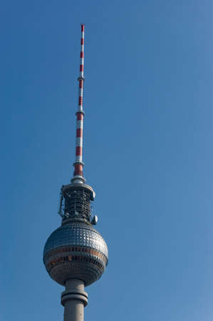 Television Tower in Alexander Platz, Berlin, Germany Stock Photo