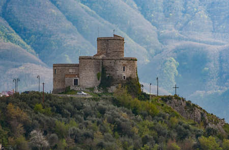 the old medieval castle in tha small village of Montesarchio, Italy