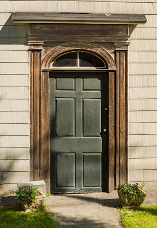 Front Door of a house in New England, USA