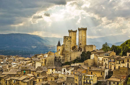 Pacentro, little town in the centre of Italy mainland. Charming typical village on the top of its hill offering great views. The Italian germ features a church and an old fortress among the homes.