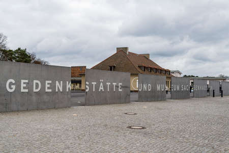 SACHSENHAUSEN - APRIL 3: was a Nazi concentration camp in Germany. Wall surrounded the Sachsenhausen Concentration camp, on April 3, 2015 in Sachsenhausen, Germany